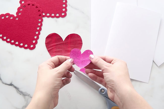 Paint Newspaper Hearts