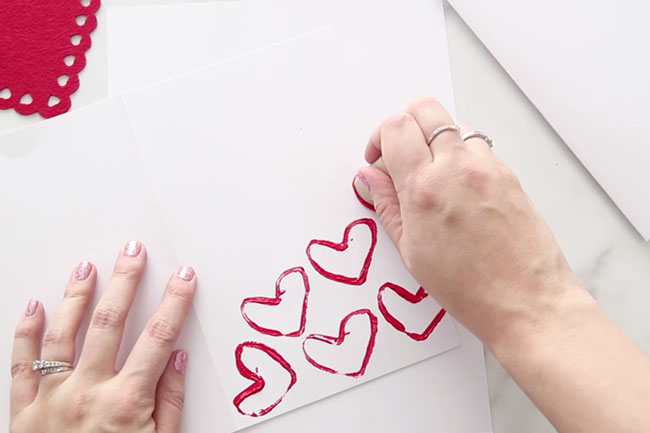 Paper Roll Heart Stamping
