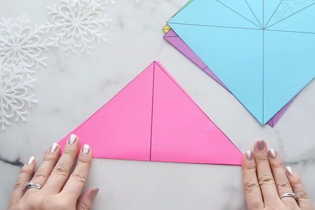 Step 1 Fold Triangle