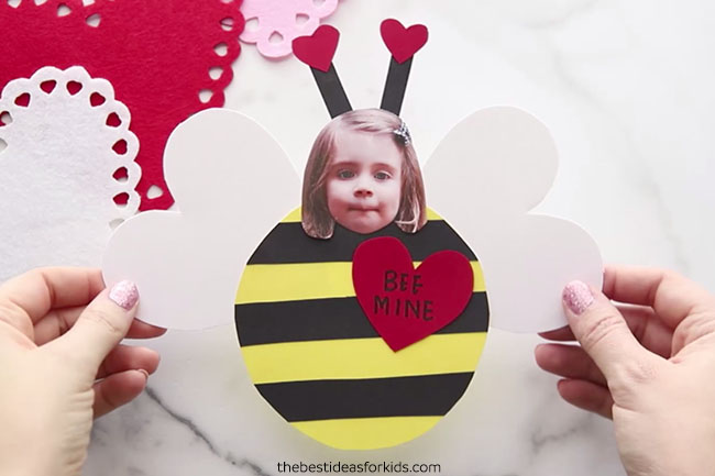 Valentine Bee Craft for Kids