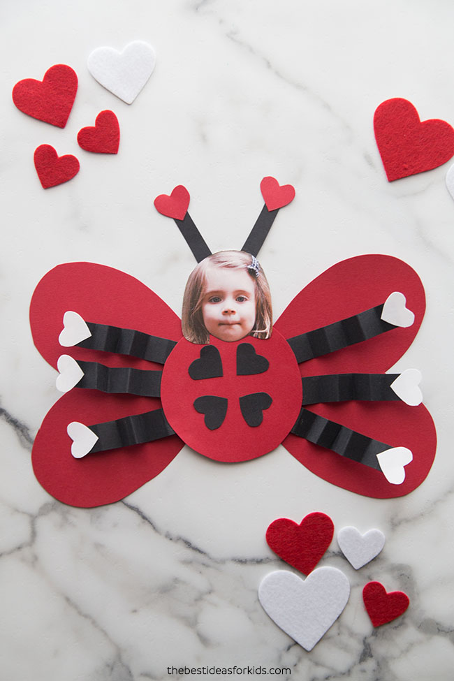 Valentine Ladybug Craft for Kids