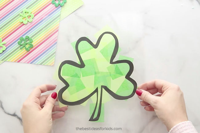 Add Laminating Paper on Top Shamrock
