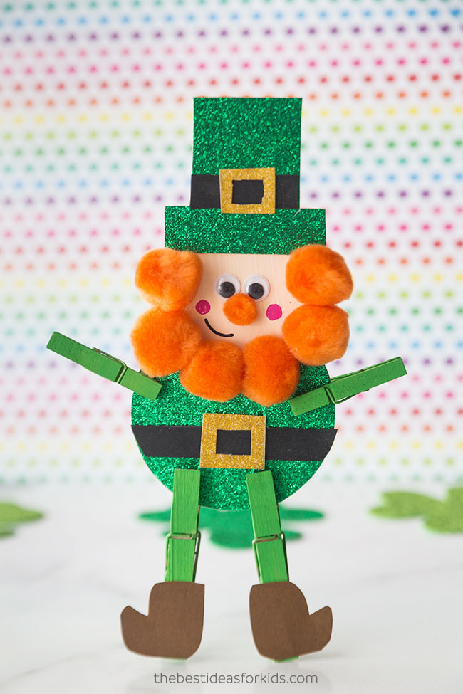 Clothespin Leprechaun Craft