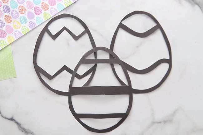 Easter Egg Suncatcher Templates
