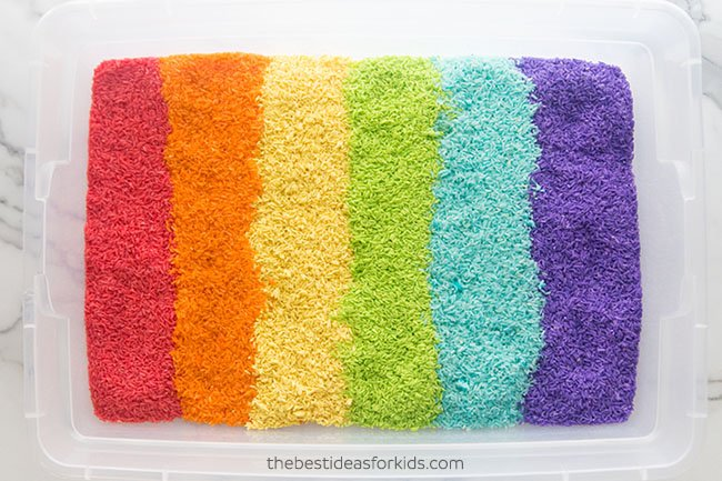 Rainbow Rice DIY