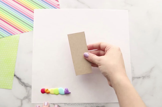 Rainbow Scrape Painting Paint