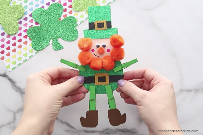 St Patrick's Day Leprechaun Clothespin Craft