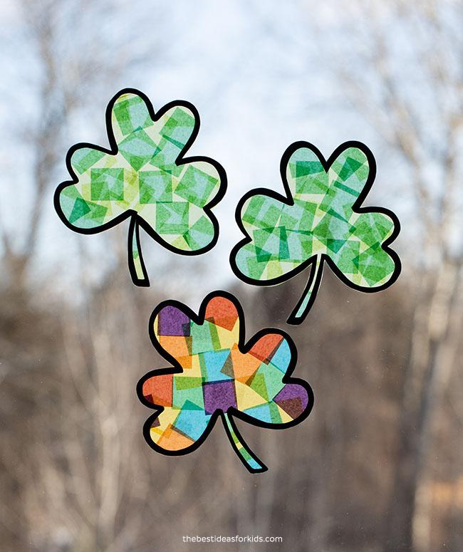St Patrick's Day Suncatcher Craft