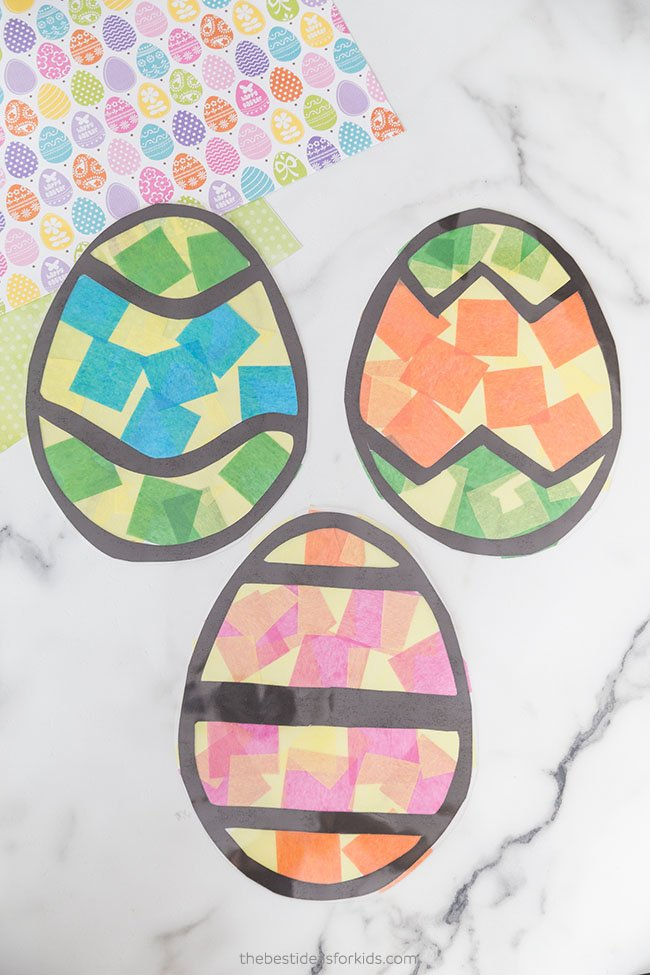 Tissue Paper Easter Suncatchers
