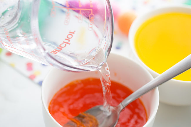Add Water to Egg Coloring Bowl