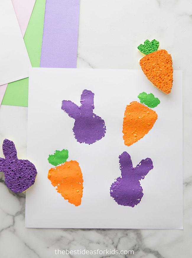 Bunny Easter Sponge Painting