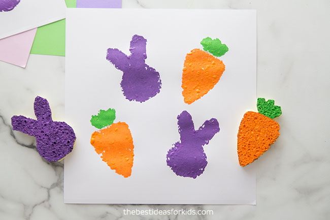Bunny and Carrot Sponge Stamps
