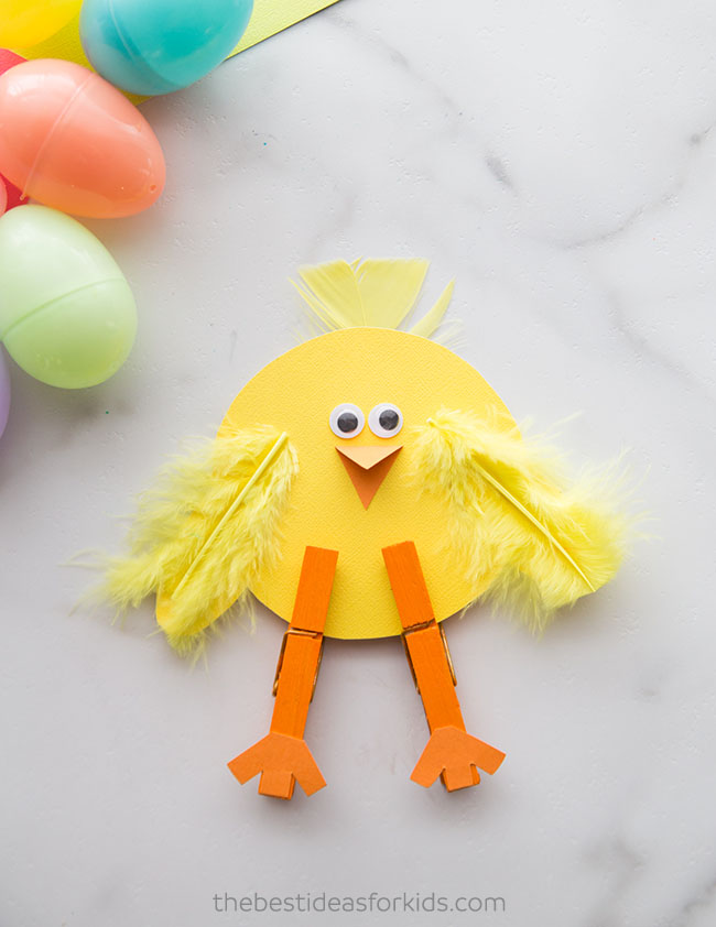 Clothespin Chick Craft