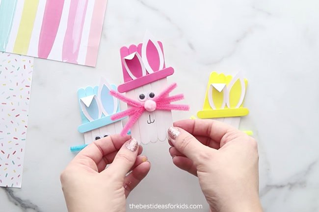 Craft Stick Easter Bunnies