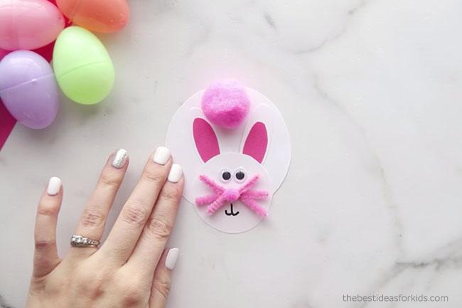 Easter Bunny Clothespin Pom Pom