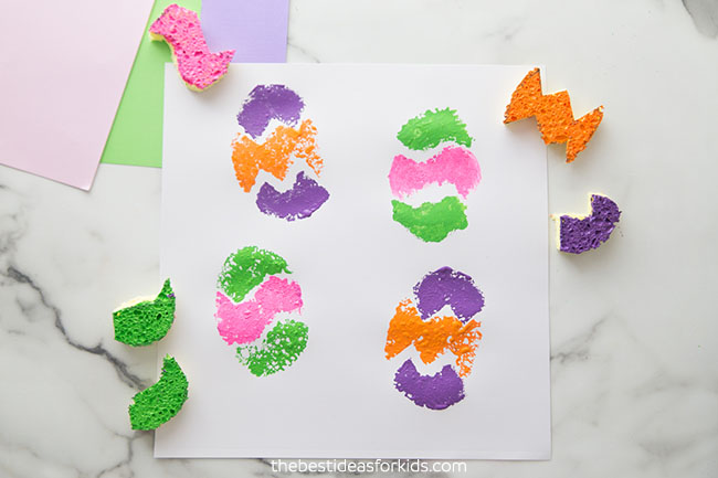 Easter Egg Sponge Stamps