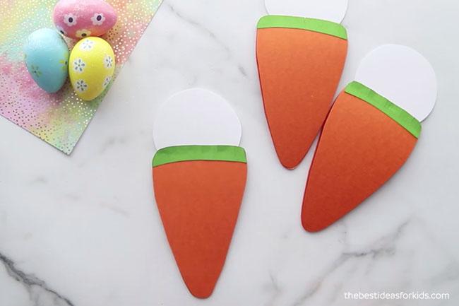 Glue Bunny Head to Carrot