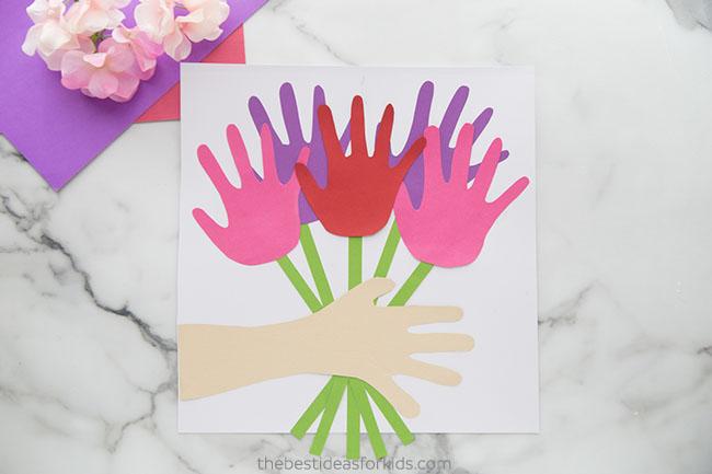 Handprint Flower Bouquet Craft for Kids