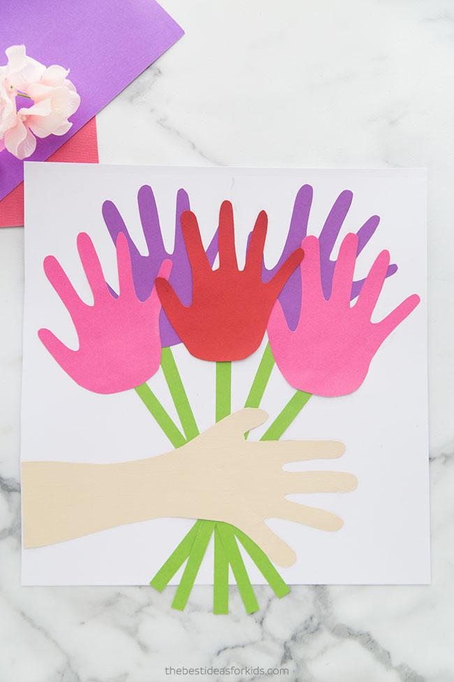 Handprint Flower Bouquet Craft