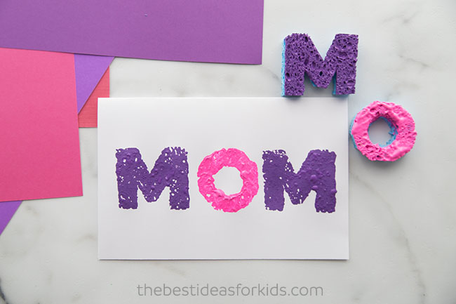 MOM sponge painted cards
