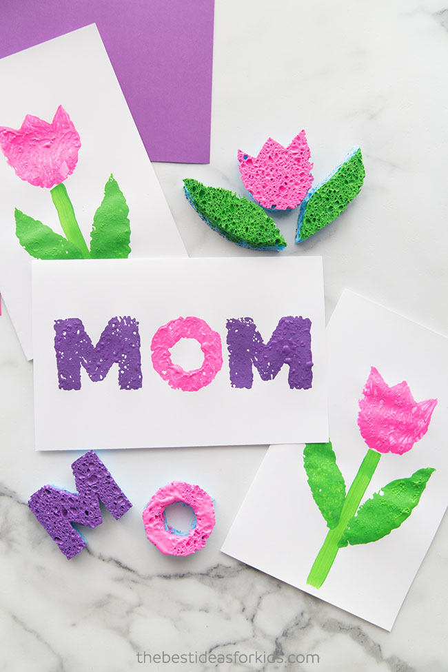 Mother's Day Sponge Painting Art