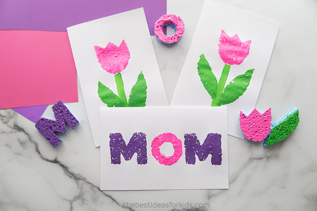 Mother's Day Sponge Prints