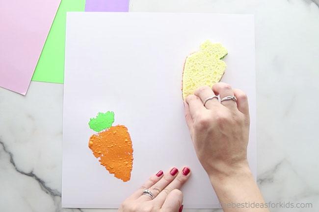 Stamp Carrot Sponge Stamp