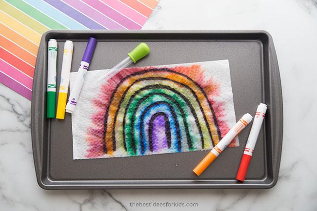 Surprise Rainbow Experiment Colors