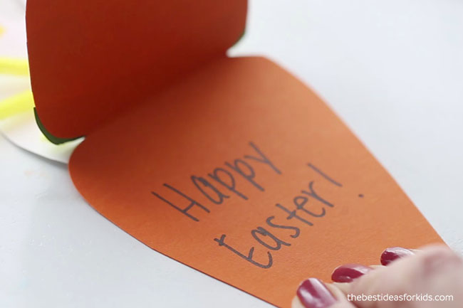 Write Happy Easter Inside Card