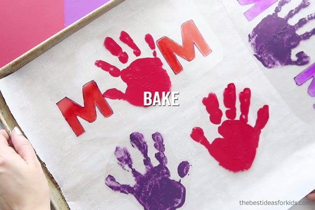 Bake Handprint Shrinky Dinks