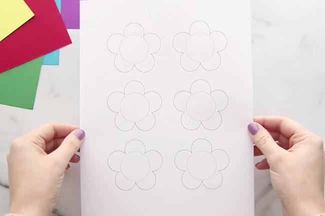 Flower Template for Mason Jar Card