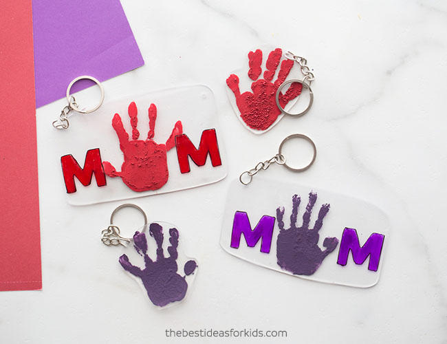 Handprint Shrinky Dink Craft