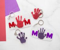 Handprint Shrinky Dink Keychain