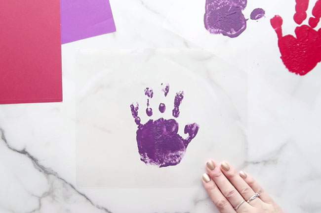 Make Handprint With Paint