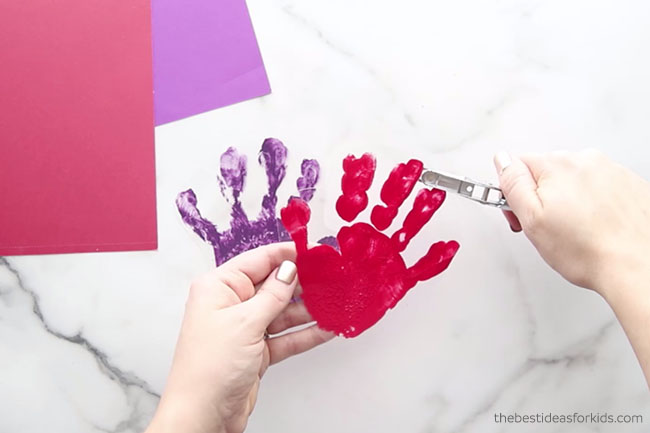 Make a Hole Punch in Handprint