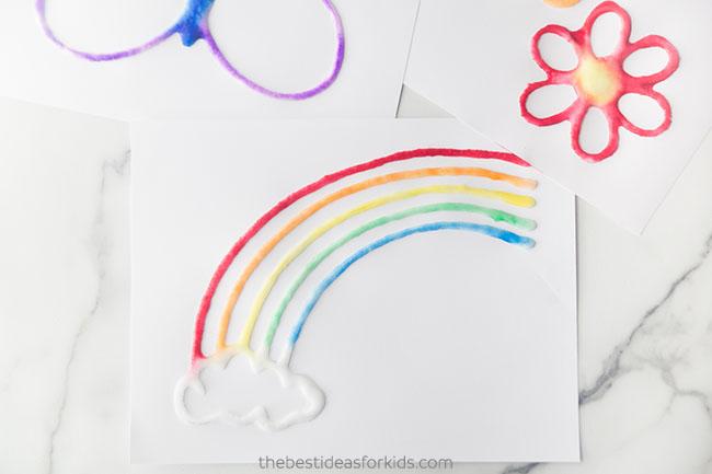 Rainbow Salt Painting