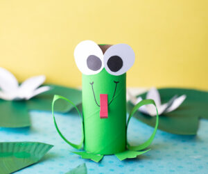 Toilet Paper Roll Frog