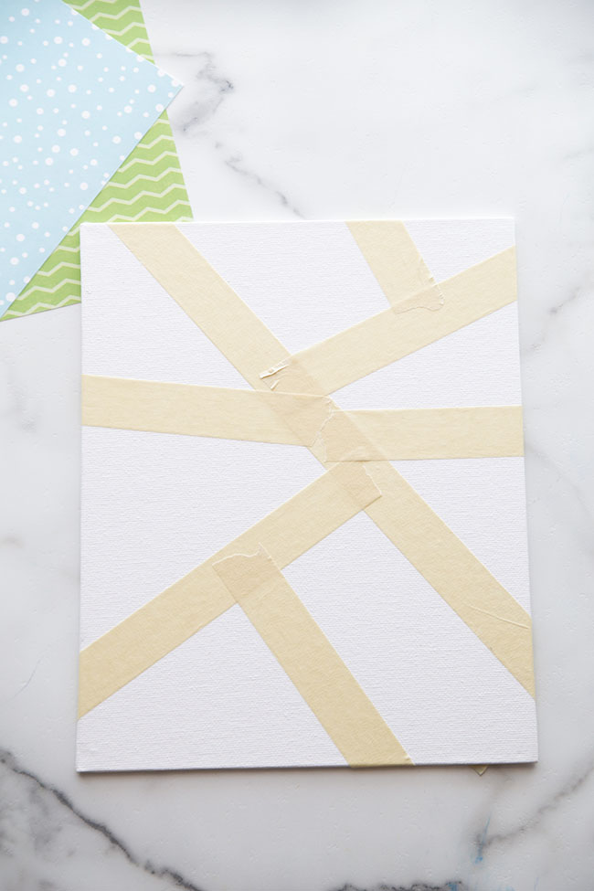 Add Masking Tape to Canvas