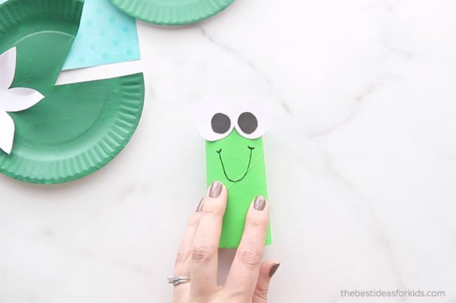 Draw Mouth on Paper Roll Frog