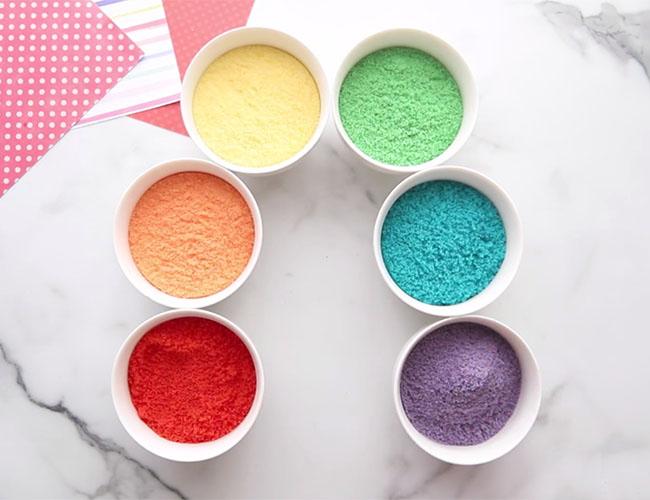 Colored Salt in Bowls