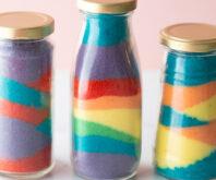 Colored Salt in Jars