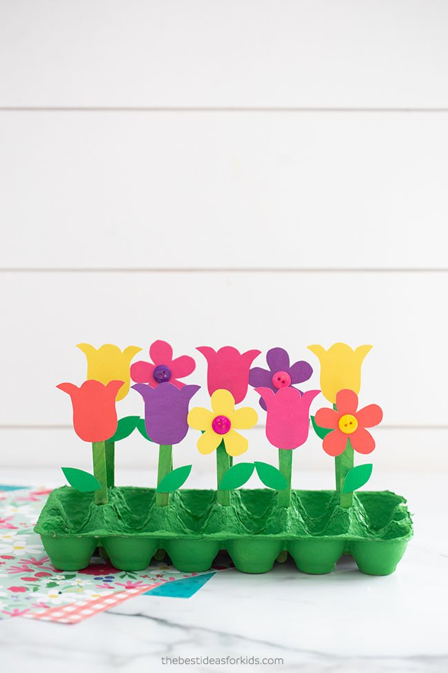 Egg Carton Garden Craft for Kids