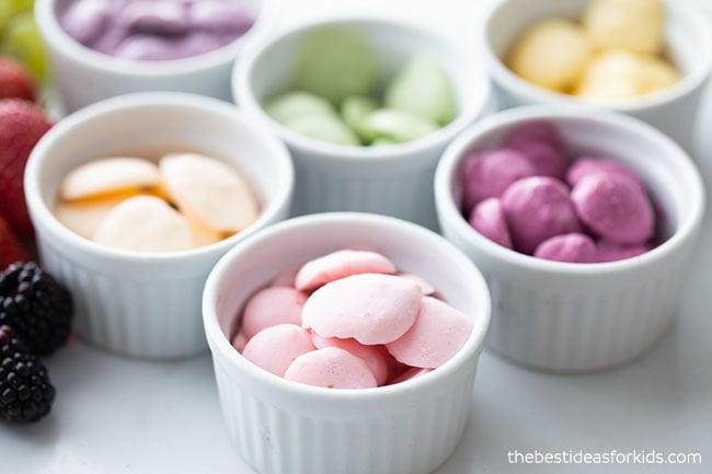 Rainbow Yogurt Bites