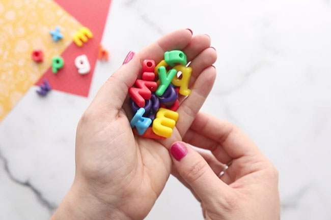 Alphabet Beads for I Spy