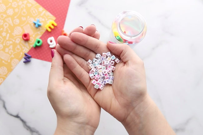 Beads for I Spy Bottle