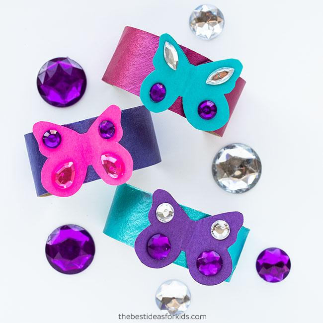 Butterfly Paper Roll Bracelet