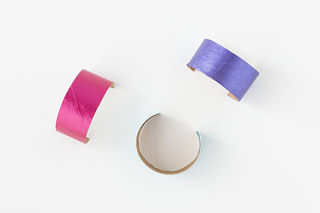 Cut and Paint Toilet Paper Roll Pieces