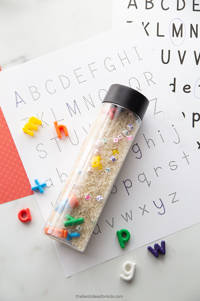 I spy alphabet sensory bottle