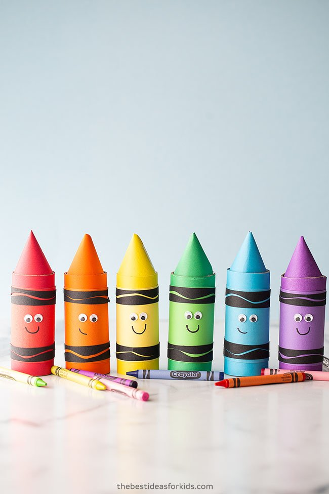 Paper Roll Crayon Craft