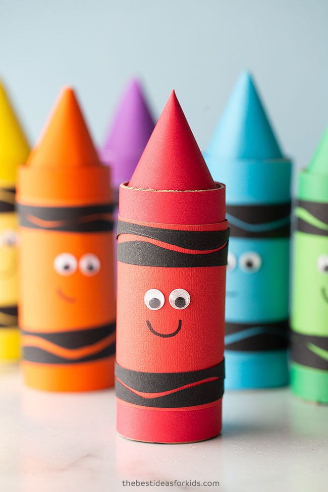 Paper Roll Crayon